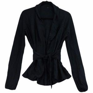 Lululemon black tie front cardigan